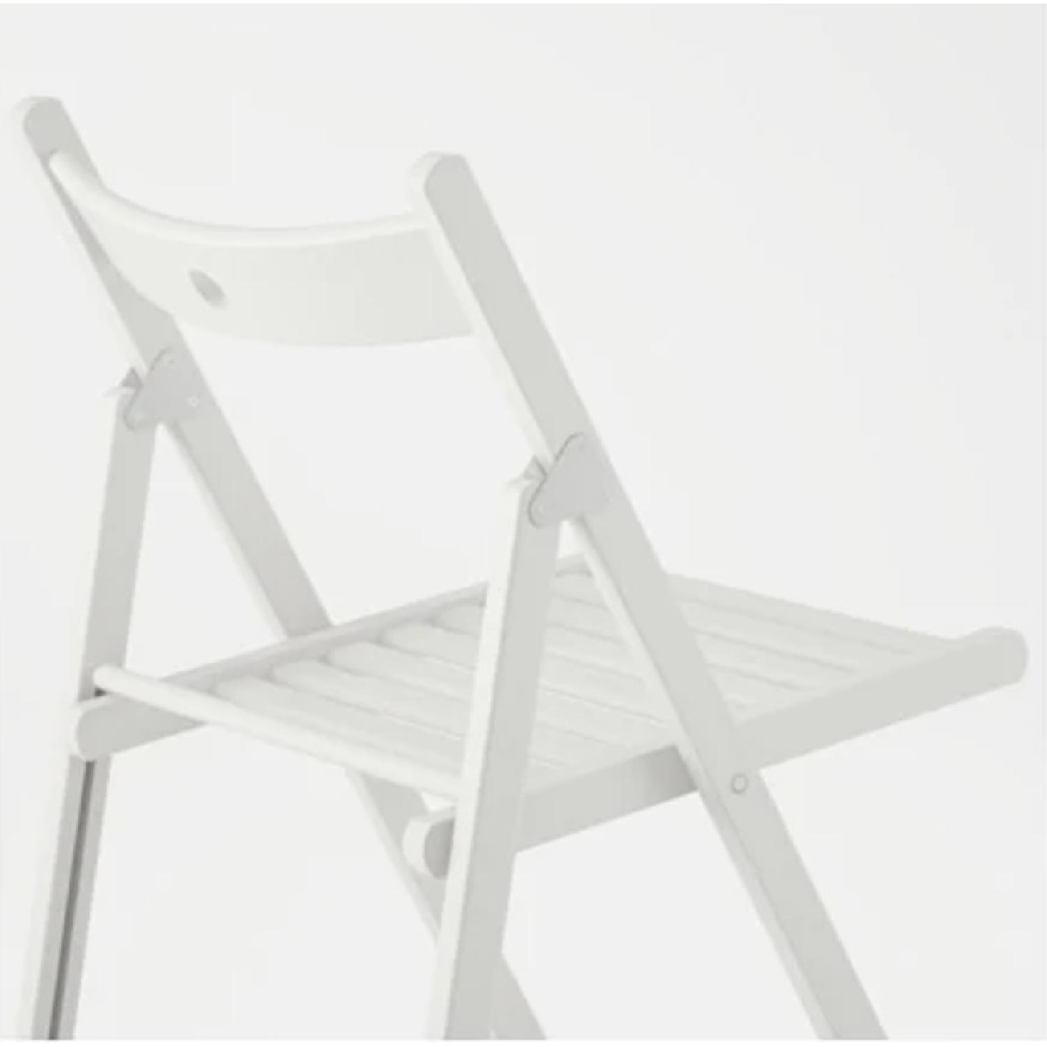 Ikea Terje White Folding Chairs - image-2