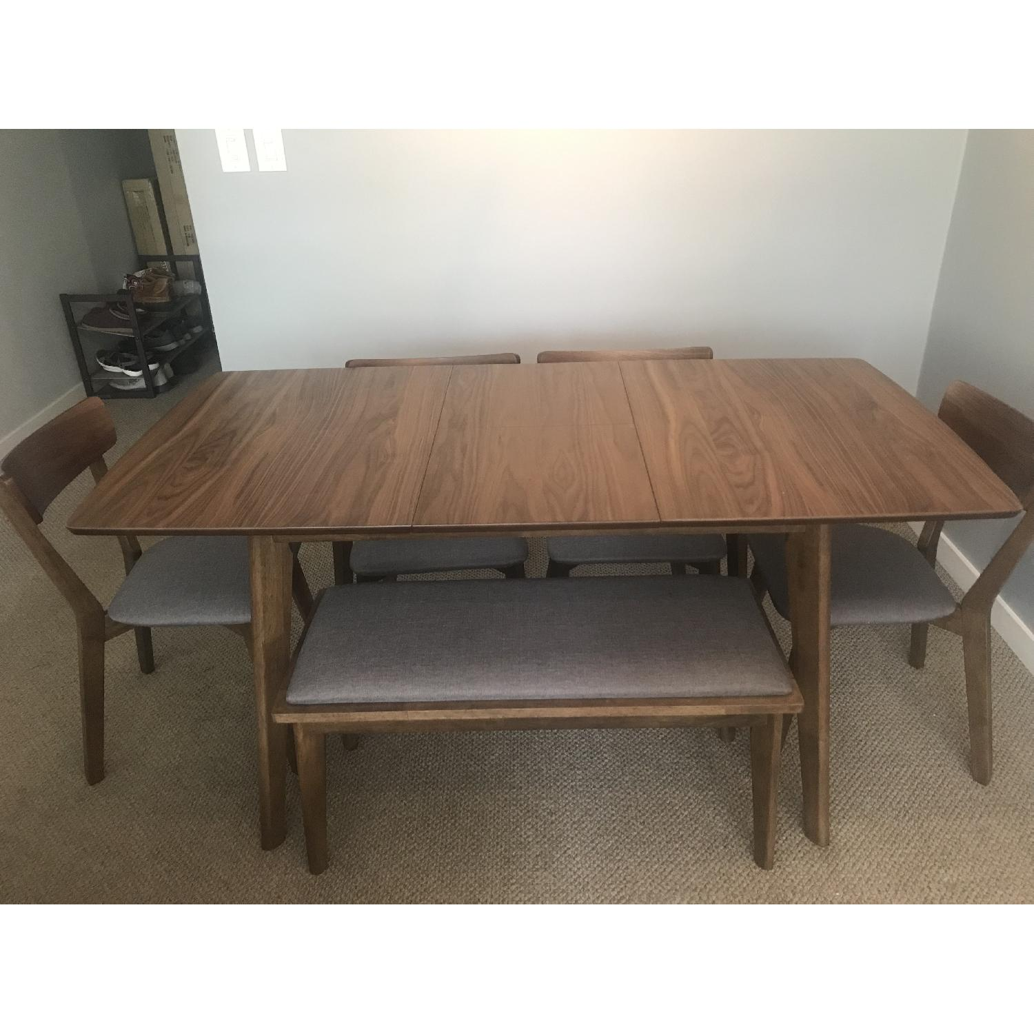 Bungalow Rose Rockaway Extendable Solid Wood Dining Table - image-1