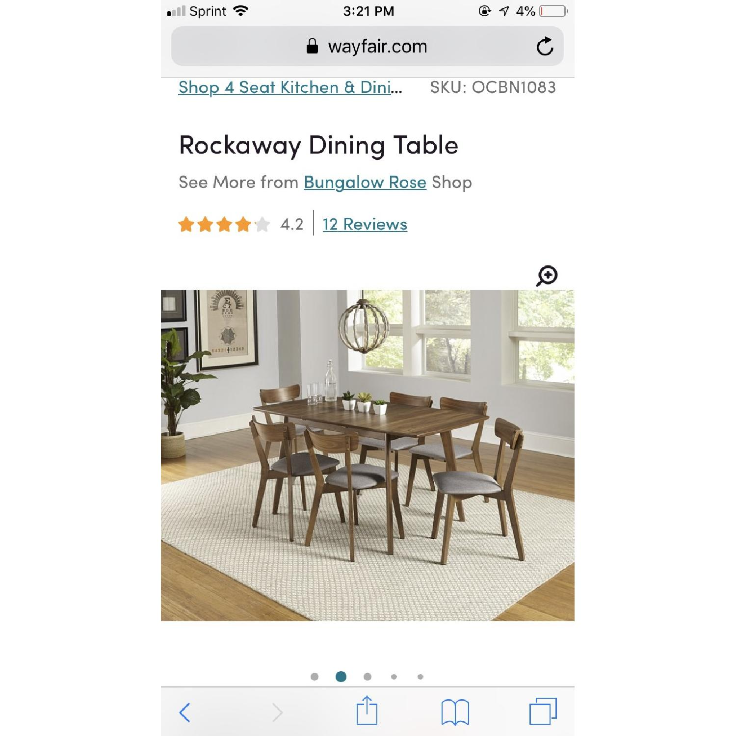 Bungalow Rose Rockaway Extendable Solid Wood Dining Table - image-7
