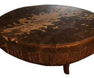 Goat Skin Drum/Coffee Table