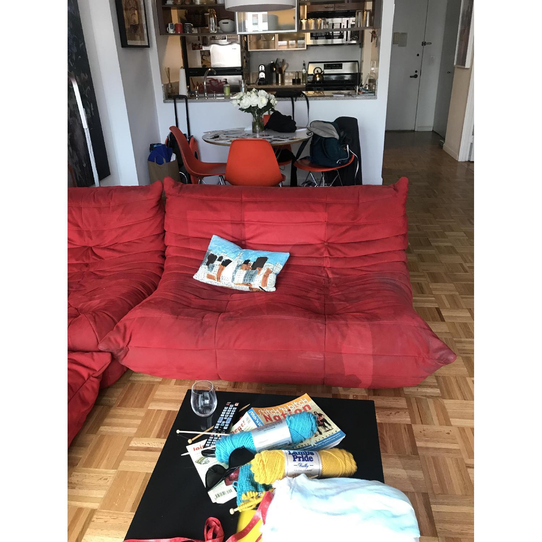 Ligne Roset Togo 3-Piece Red Sectional Sofa - image-4