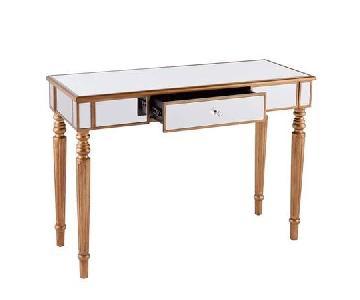 Southern Enterprises Mirrored Media Console Table/Desk