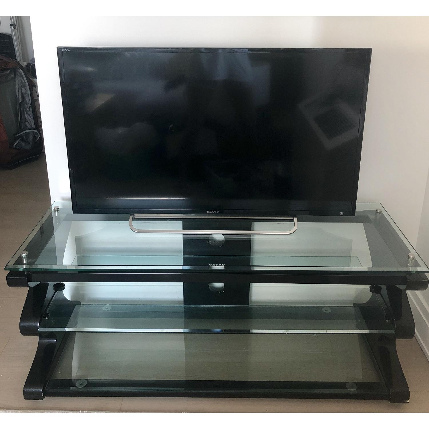 Gecko Steel & Tempered Glass TV Stand - image-1