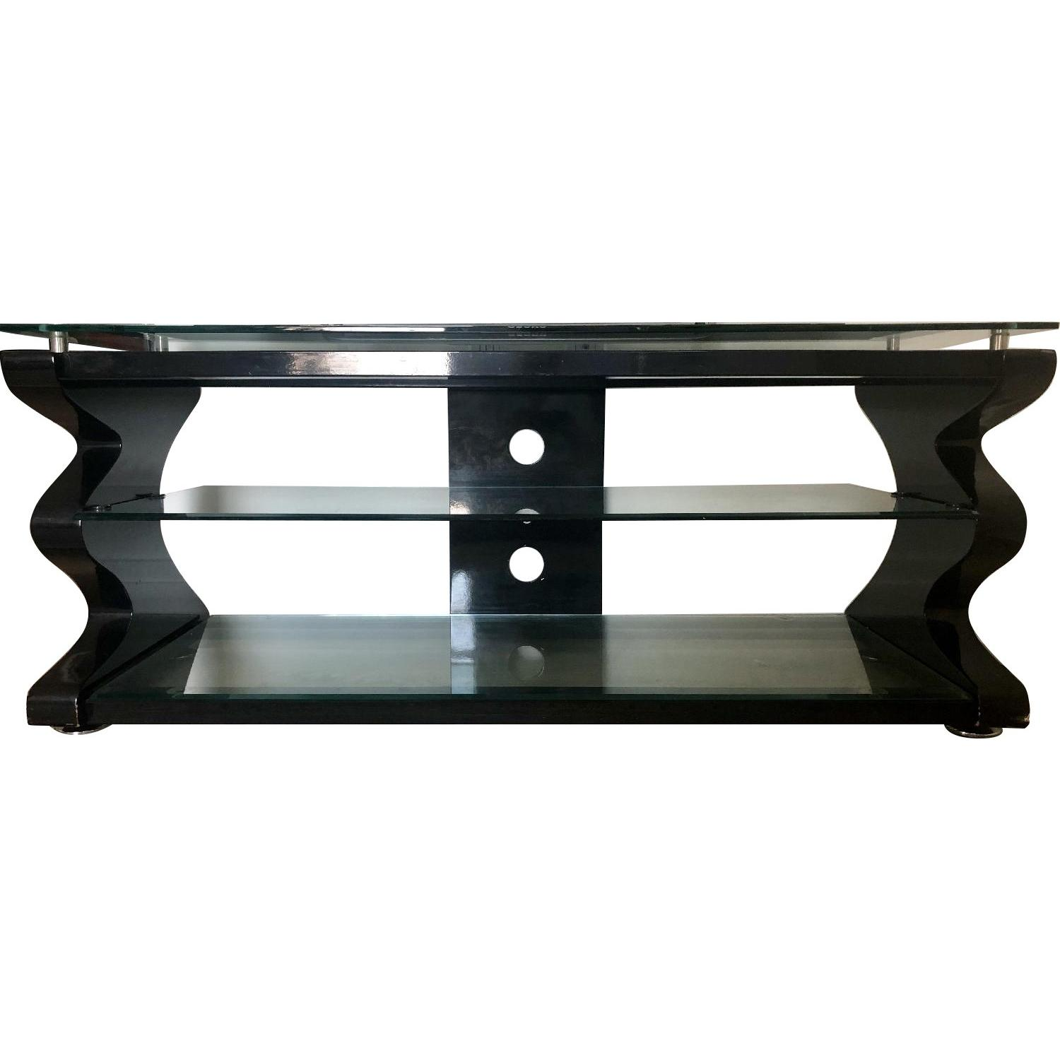 Gecko Steel & Tempered Glass TV Stand - image-0