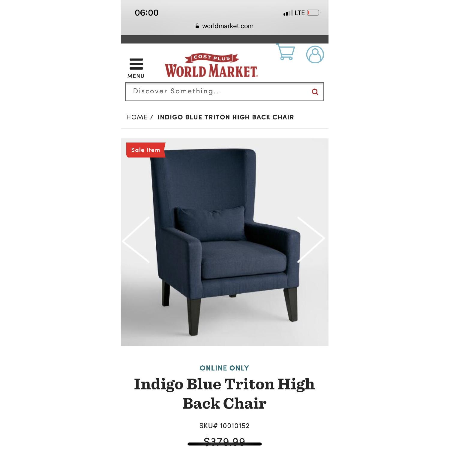 World Market High Back Chair - image-1