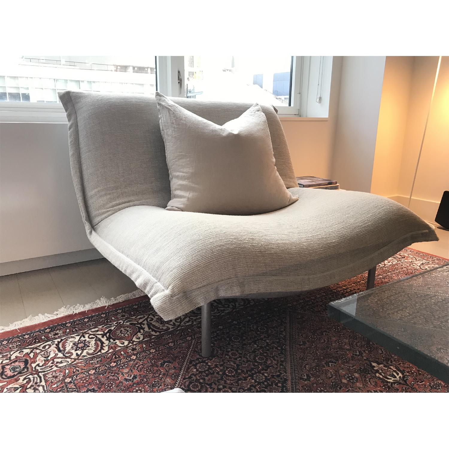 Ligne Roset Fabric Chair w/ Removable Cover - image-1