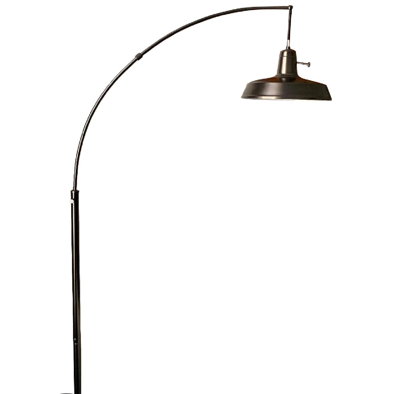 West Elm Overarching Floor Lamp in Polished Nickel