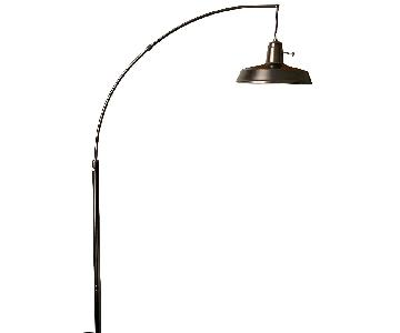 West Elm Overarching Floor Lamp in Polished Nickel