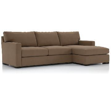 Crate & Barrel 2-Piece Sectional Sofa