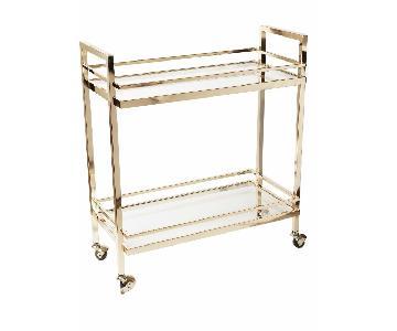 Design Guild Rose Gold Rolling Bar Cart