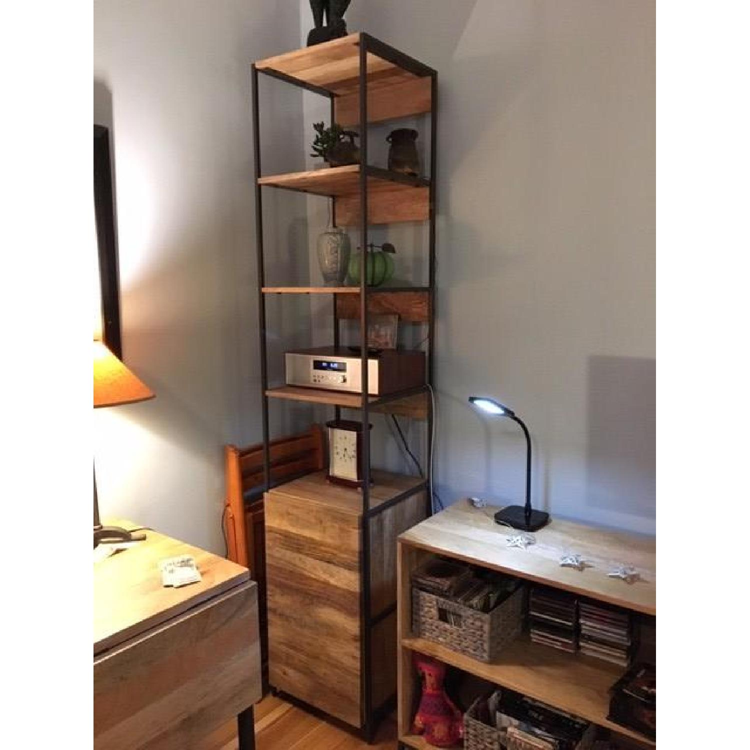 West Elm Industrial Corner Storage Unit - image-1