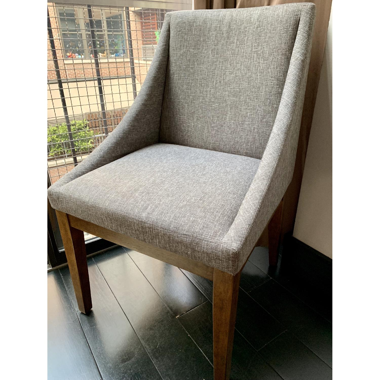 West Elm Upholstered Dining Chairs - image-2