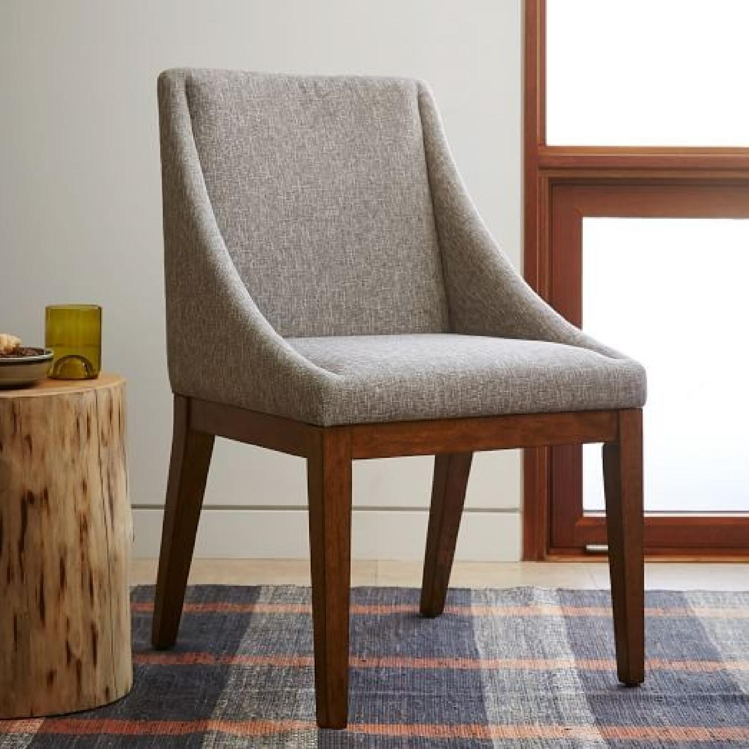 West Elm Upholstered Dining Chairs - image-0