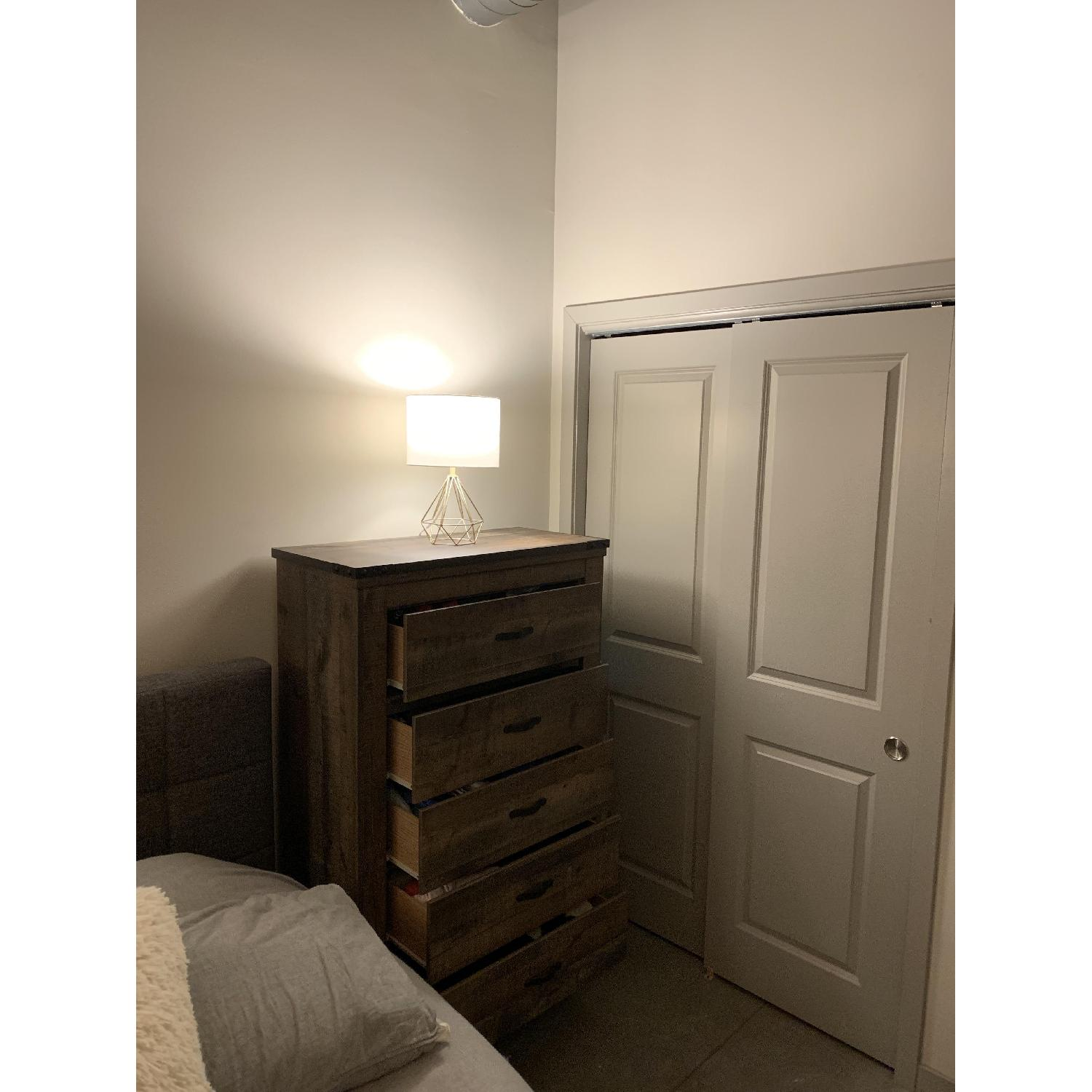 Ashley Trinell Brown Five Drawer Chest - image-3
