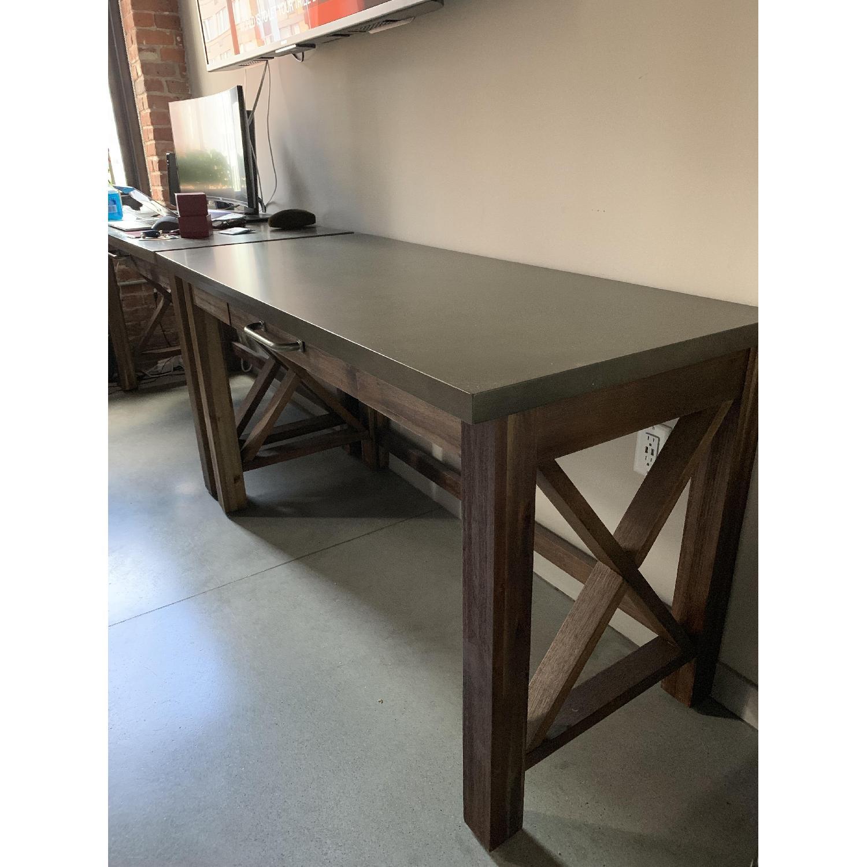 World Market Wood Farmhouse Desk - image-1