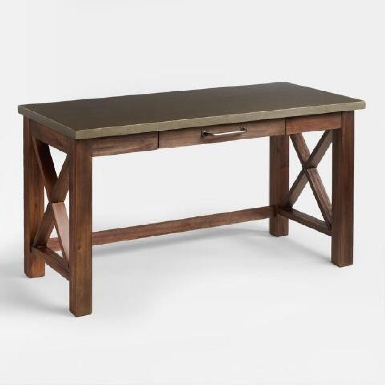 World Market Wood Farmhouse Desk - image-0