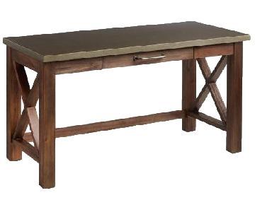 World Market Wood Farmhouse Desk