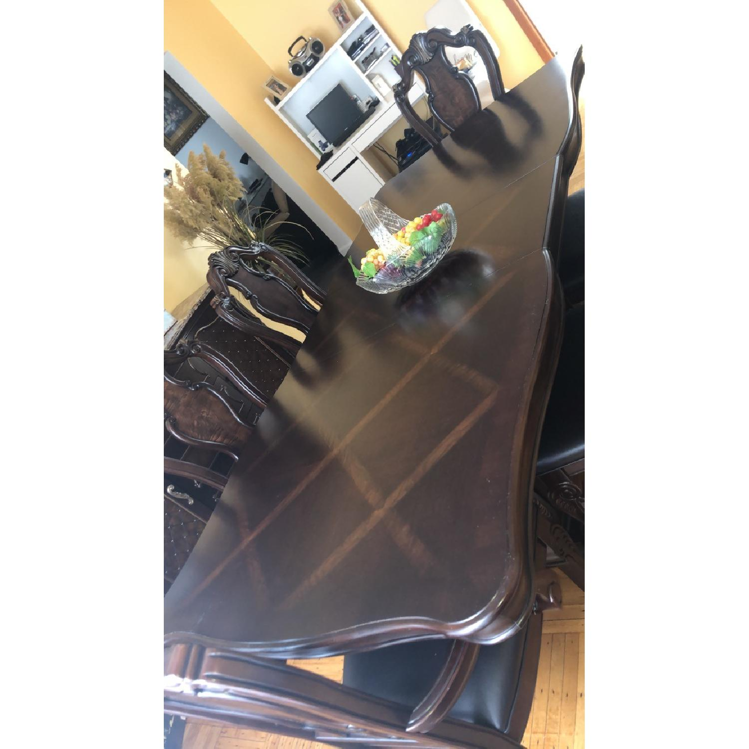 Wood Dining Table w/ 6 Chairs - image-1