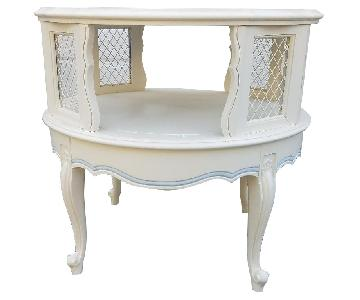 Vintage Two Tiered French Provincial Side Table