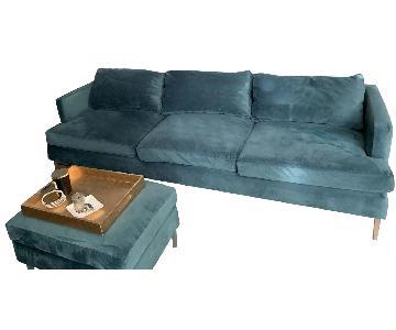 Lillian August 3 Seater Sofa & Ottoman