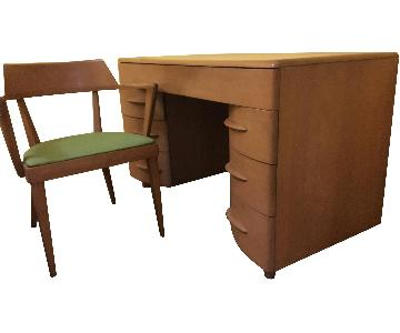 Heywood Wakefield Desk & Chair