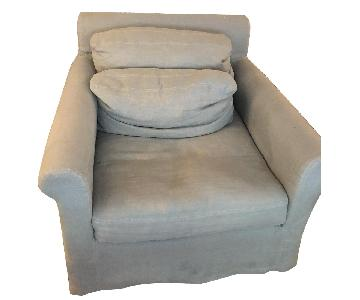 Restoration Hardware Belgian Roll Arm Chair