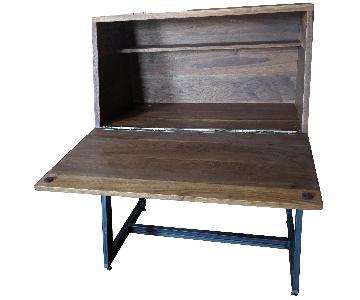 Recycled Brooklyn Inc. Custom Black Walnut Secretary Desk