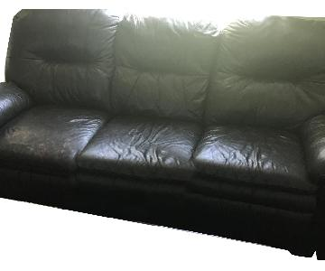 Ashley Brown Double Reclining Sofa