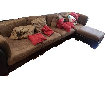 Brown 5 Piece Sectional Sofa