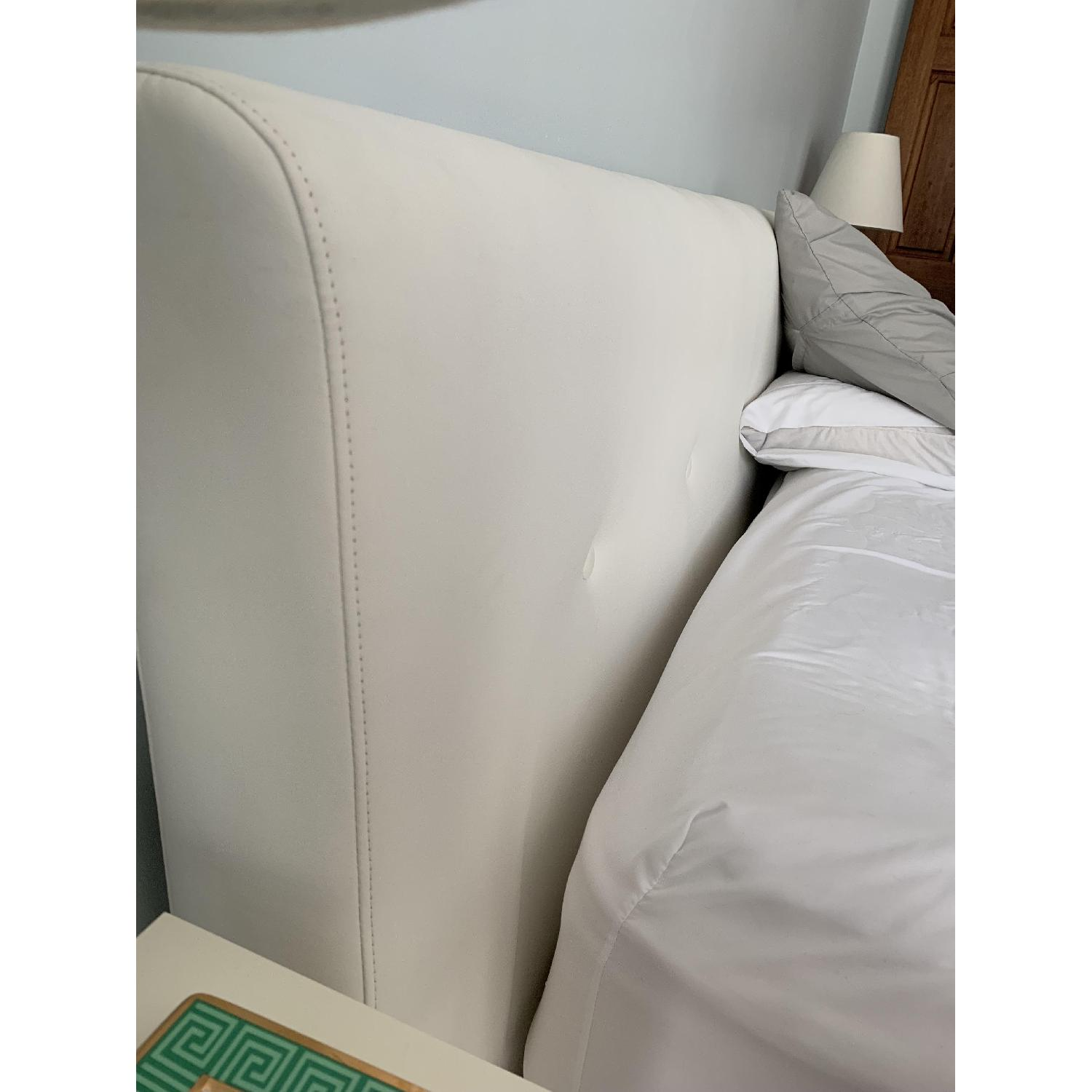 BoConcept White Leather Headboard