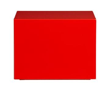 Cb2 City Slicker Red Table