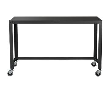 CB2 Go-Cart Black Rolling Desk