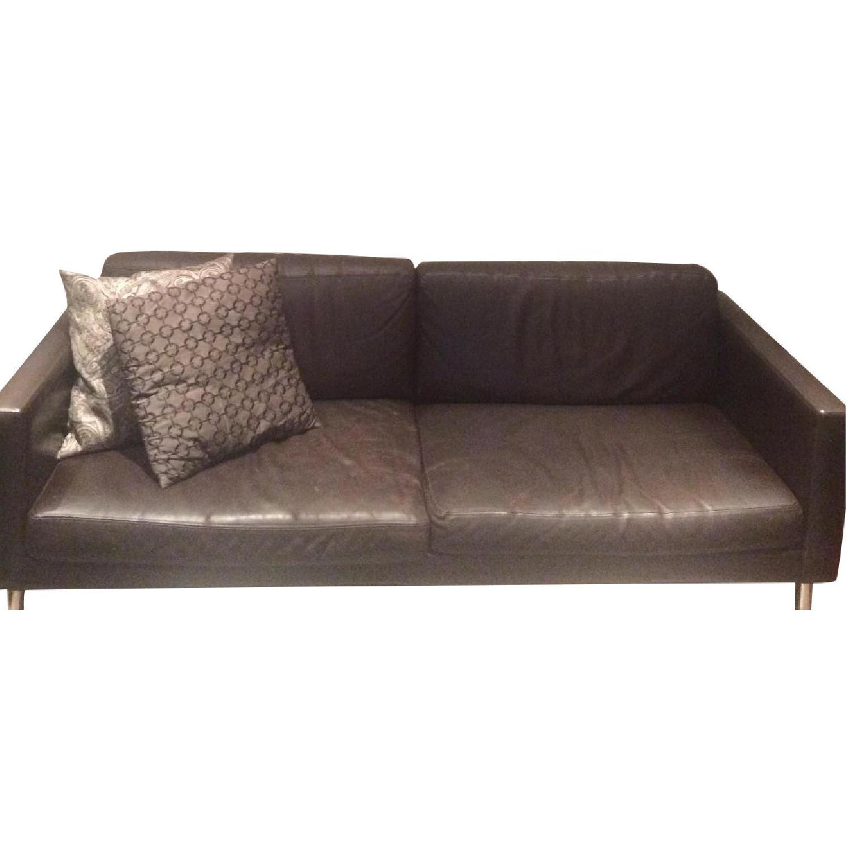 Brown Leather Sofa - AptDeco