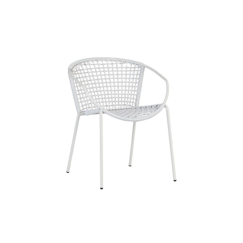 CB2 Sophia White Dining Chair