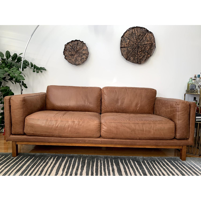 Fabulous West Elm Dekalb Leather Sofa Aptdeco Theyellowbook Wood Chair Design Ideas Theyellowbookinfo
