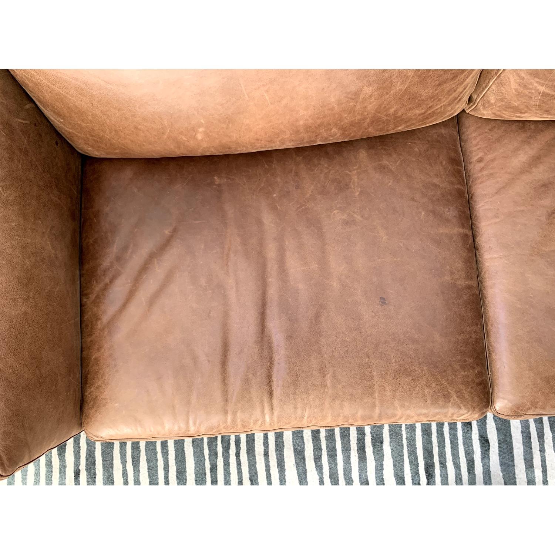 Peachy West Elm Dekalb Leather Sofa Aptdeco Theyellowbook Wood Chair Design Ideas Theyellowbookinfo