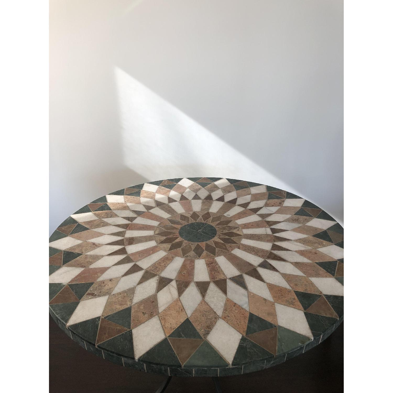 Arhaus Iron Dining Table w/ Stone Top - image-1