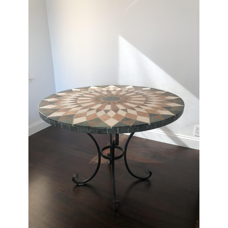 Arhaus Iron Dining Table w/ Stone Top - image-2