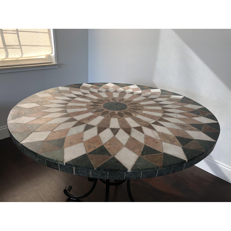 Arhaus Iron Dining Table w/ Stone Top - image-3