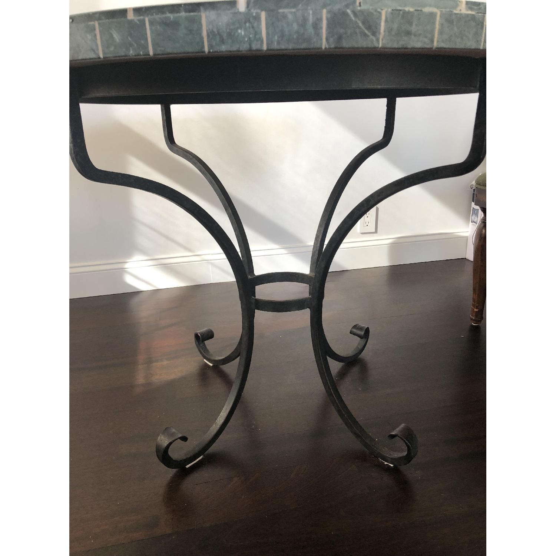 Arhaus Iron Dining Table w/ Stone Top - image-4
