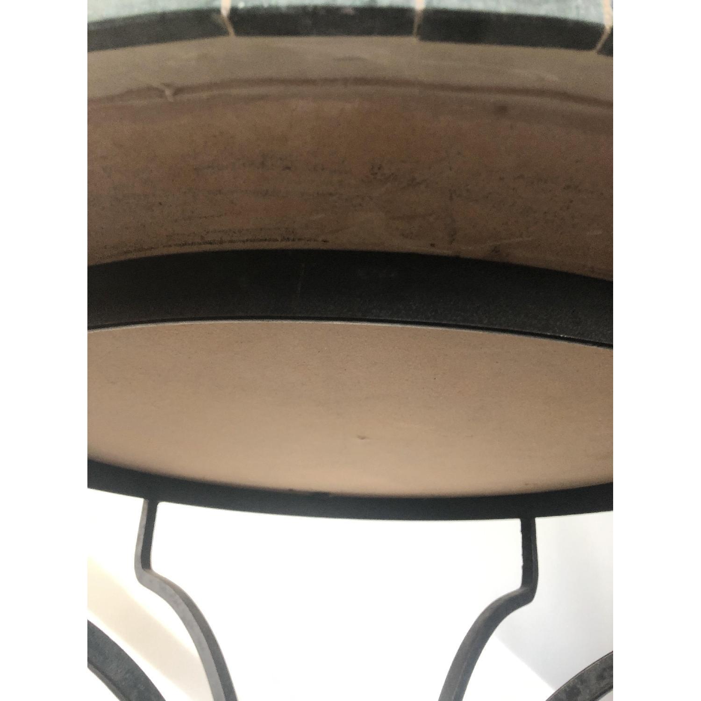 Arhaus Iron Dining Table w/ Stone Top - image-5