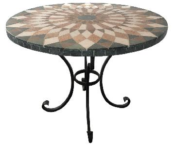 Arhaus Iron Dining Table w/ Stone Top