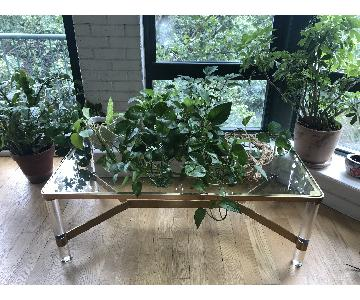Anthropologie Lucite Art Deco Coffee Table