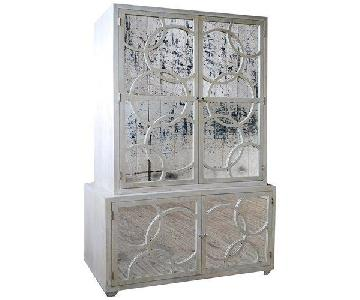 Worlds Away Leah 2 Piece Armoire/Credenza/Media Cabinet