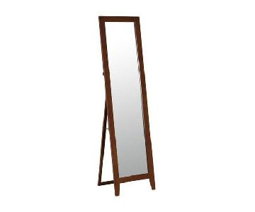 Andover Mills Brown Wood Full Length Standing Mirror