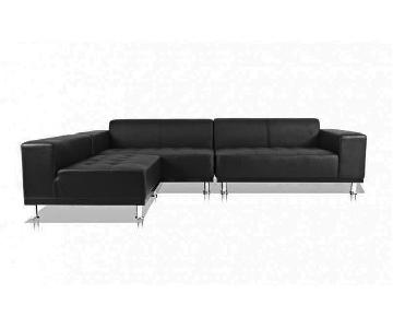 Modani Phantom Black Sectional Sofa