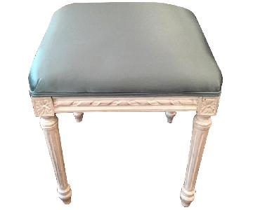 Custom Satin Upholstered Bench