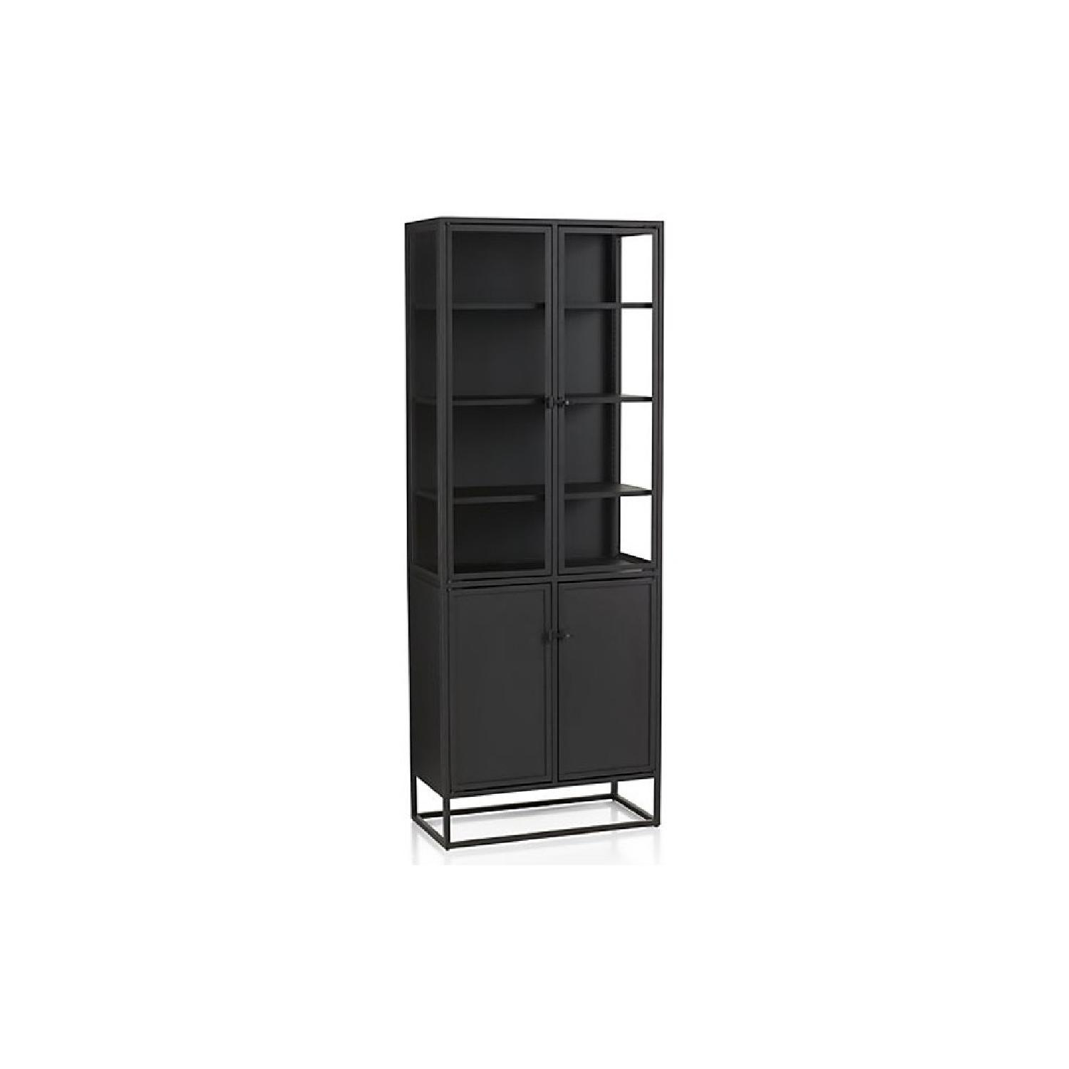 Crate & Barrel Casement Black Tall Cabinet