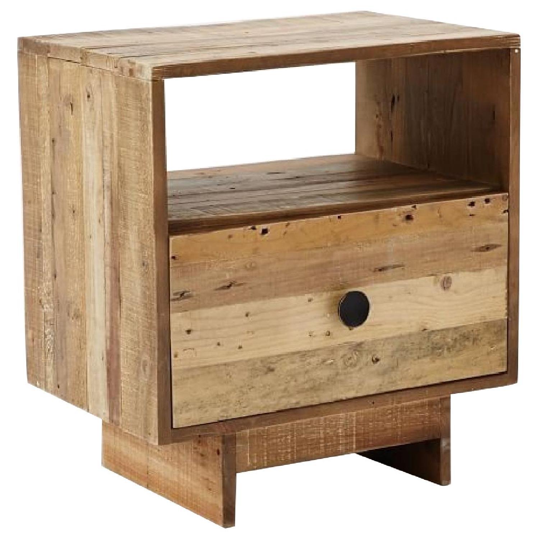 West Elm Emmerson Reclaimed Wood Nightstand In Natural   AptDeco