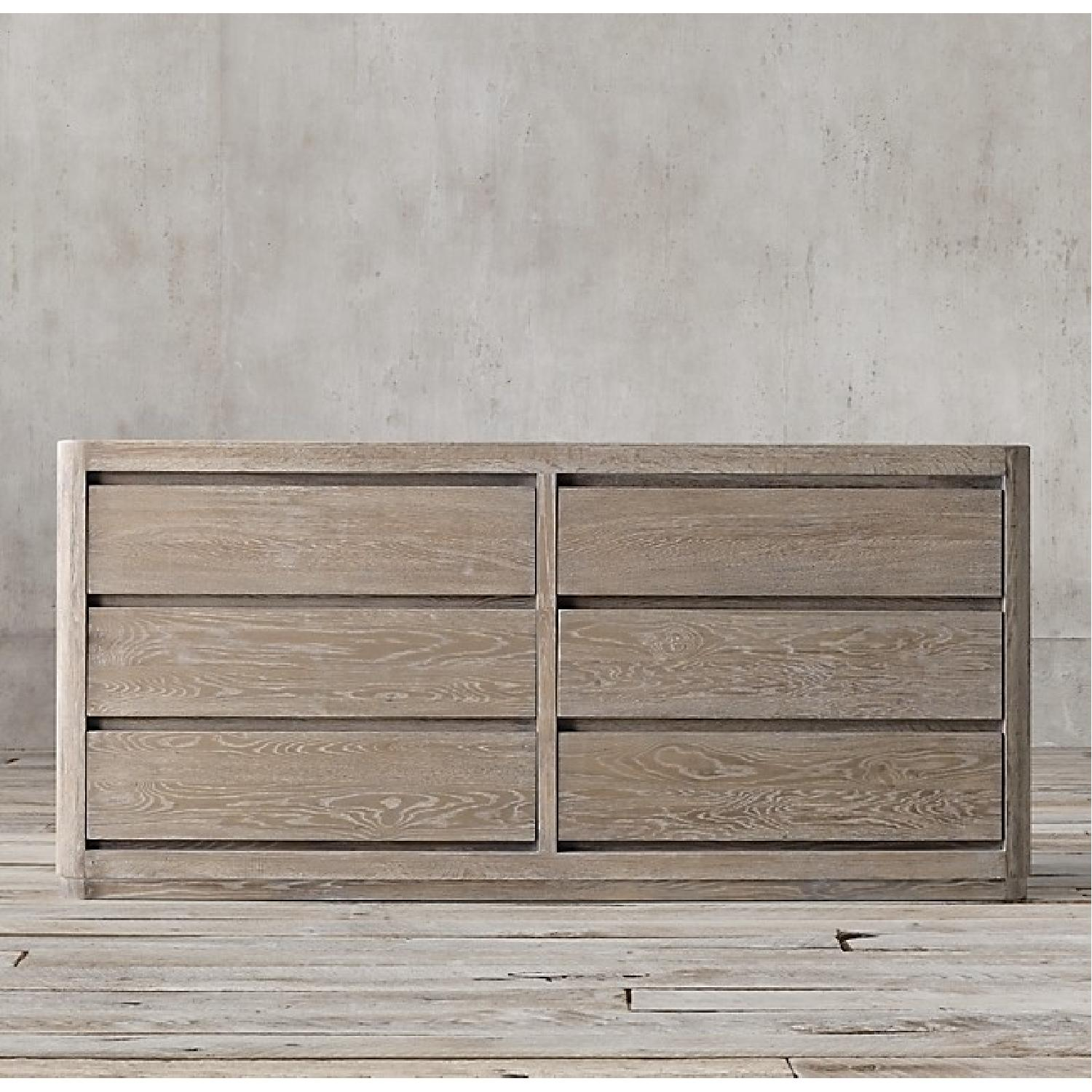 Restoration Hardware Martens 6-Drawer Dresser in Aged Oak
